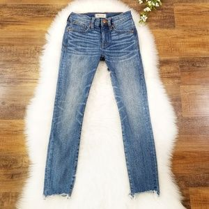 """Madewell 9"""" High Rise Skinny Crop Jeans 24"""